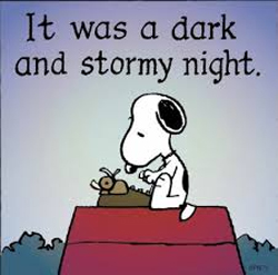 It was a dark & stormy night