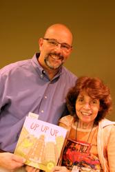 Speaker Michael Hale with Carol Osman Brown. Photo by Bing Brown.